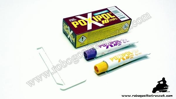 EXTRA erős 2 komponensű ragasztó POXIPOL