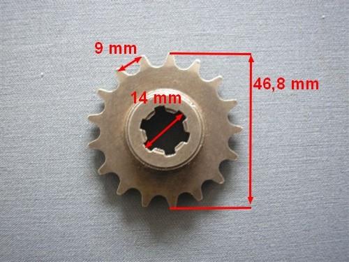 Lánckerék első 17 fogas (vastag lánchoz) Pocket Bike