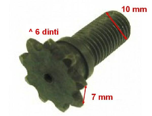 Lánckerék első 6 fogas (vékony láchoz) 10mm-es Pocket Bike