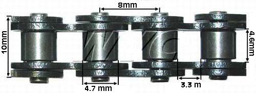 Lánc vastag H35 69 szemes 138 csap Pocket Bike