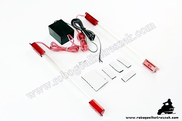 LED-sor robogóra Piros 23cm