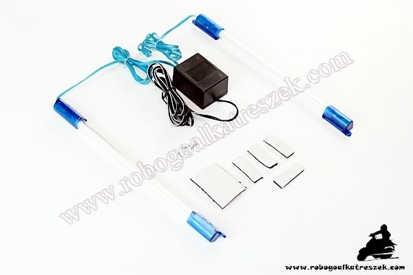LED-sor robogóra Kék 23cm