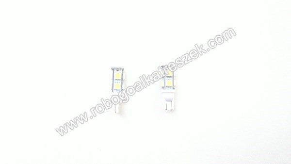 SMD 9 LED-es izzó T10 fehér 1 pár    RV-06-01-12