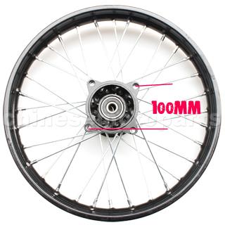 """Kerék első 17"""" Dirt Bike (100mm)"""
