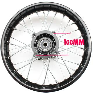 """Kerék hátsó 14"""" Dirt Bike 100mm / 90mm"""