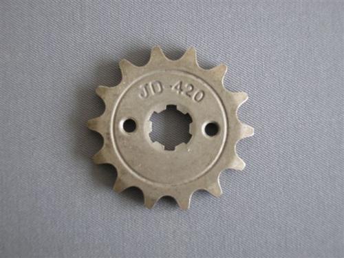 Lánckerék első 420 14 fogas 14/17mm-es tengelyre