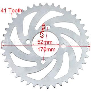 Lánckerék hátsó 420 41 fogas Dirt Bike