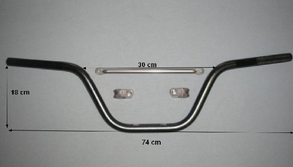 Kormány Dirt Bike 125ccm 22mm Fekete