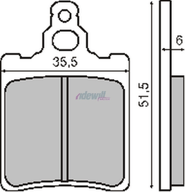 Fékbetét CAGIVA 125ccm RMS 0020