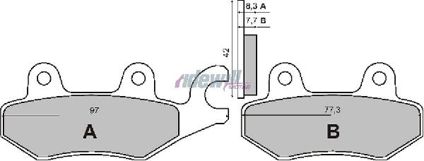 Fékbetét CAGIVA CANYON / SUZUKI LT 150 / 500 RMS 1070