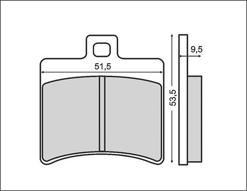 Fékbetét APRILIA SCARABEO 125 / LEONARDO 150ccm RMS 0310