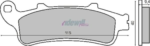 Fékbetét HONDA PANTHEON 4T 125-150ccm CB / FJS / VFR / XL /GL RMS 0340