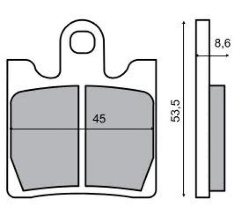 Fékbetét SUZUKI AN / BURGMAN 250-400ccm RMS 0380