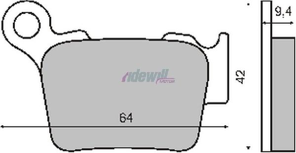 Fékbetét HUSQVARNA / KTM 125-525ccm RMS 0750