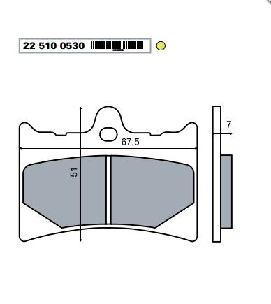 Fékbetét APRILIA RS 125ccm RMS 0530