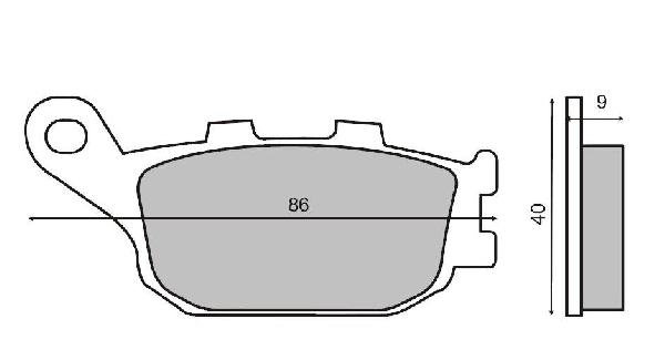Fékbetét HONDA CBR / CB 600 91-00 RMS 0930