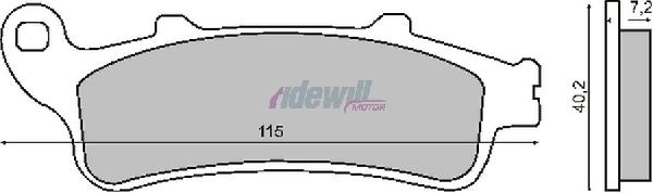 Fékbetét Honda CB / CBR 1100 / GL / VTX 1800 RMS 0970
