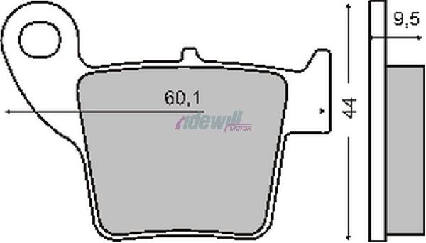Fékbetét Honda CRF 250-450ccm RMS 0660