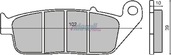 Fékbetét KYMCO EXCITING 500 / HONDA CN 250 87-94 / RMS 0890-0320