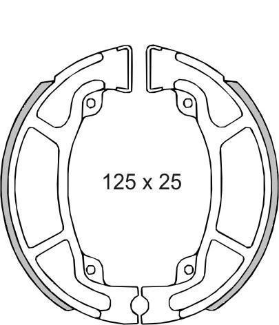 Fékpofa HONDA SH 125-150ccm RMS 0470 / 0471