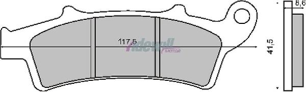 Fékbetét MALAGUTI MADISON 250 RMS 0440