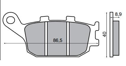 Fékbetét HONDA JAZZ 250ccm RMS 0470