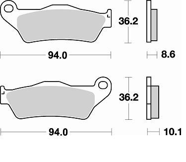 Fékbetét BMW 850 RMS 1380