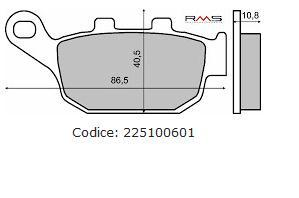Fékbetét HONDA PANTHEON 125-150ccm 4T RMS 0601