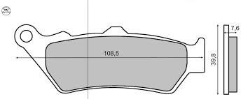 Fékbetét BMW F 650 RMS 1010