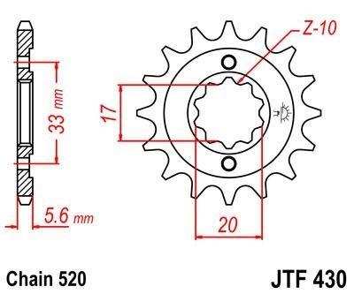 Lánckerék első JTF430 520 13 fogas