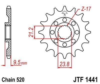 Lánckerék első JTF1441SC 520 14 fogas