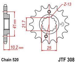 Lánckerék első JTF308 520 15 fogas