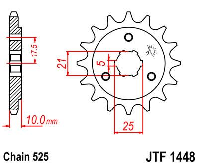Lánckerék első JTF1448 525 15 fogas