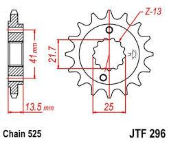 Lánckerék első JTF296 525 16 fogas