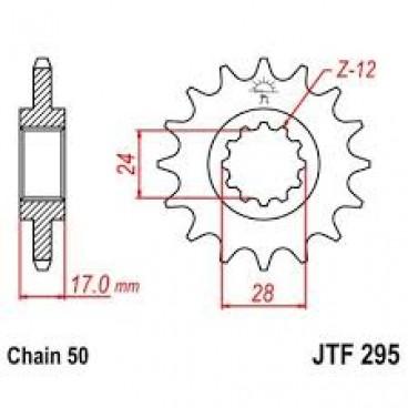 Lánckerék első JTF295 530 15 fogas