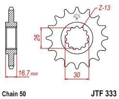 Lánckerék első JTF333 530 16 fogas