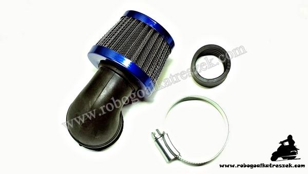 Levegőszűrő sport kék 35mm 90 fokos RV-05-01-21