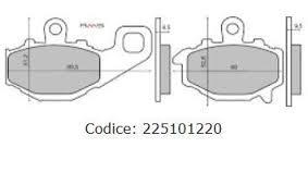 Fékbetét Kawasaki ZRX 400cc 94-01 / Z750 04-05 RMS 1220