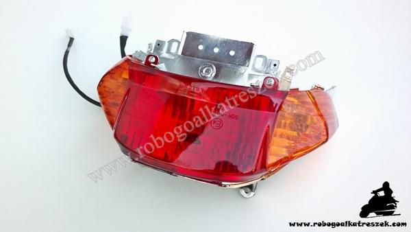 """Lámpa hátsó 10""""-es kerekű 4 ütemű kínai robogóhoz (narancssárga búrás)"""