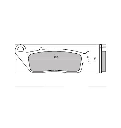 Fékbetét Honda CBR 1000F RMS 0870