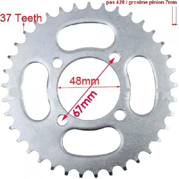 Lánckerék hátsó 428 37 fogas Dirt Bike tip II