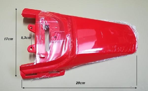 Hátsó sárvédő piros HB-GS 125ccm