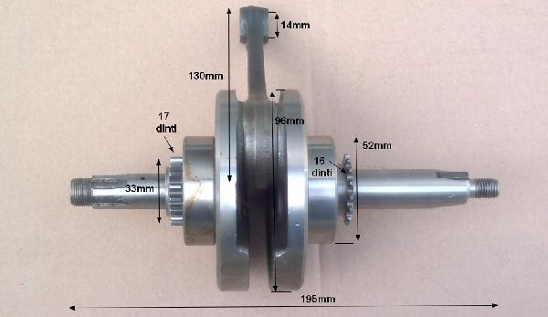 Főtengely Lifan 125ccm - 14-es csapszeg tip II