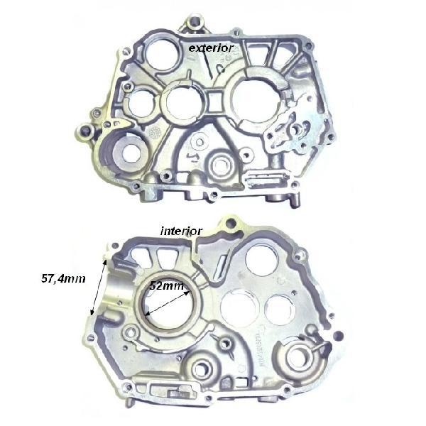 Motor blokk jobb oldali (önindító nélküli) Dirt Bike 110-125ccm