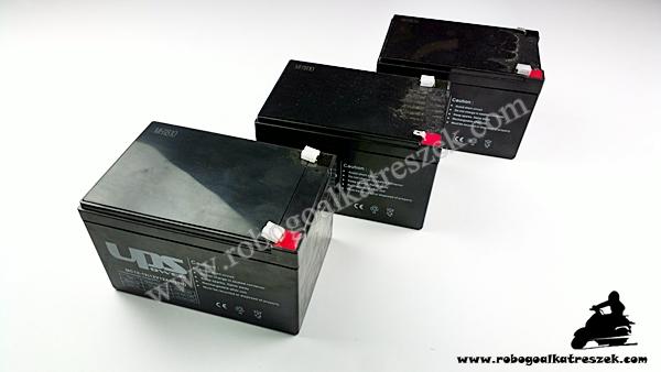 12V 12Ah gondozásmentes elektromos kerékpár akkumulátor (6-DZM-10)