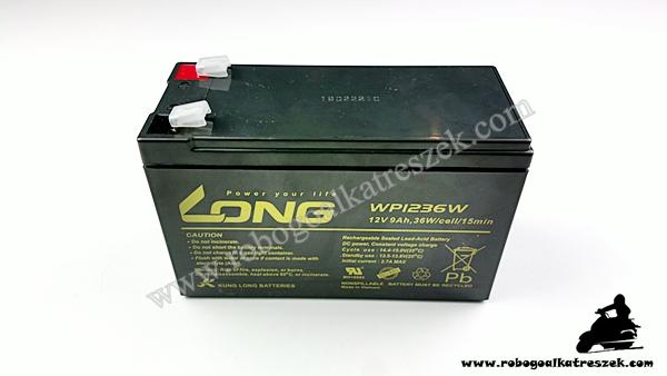 12V 9Ah gondozásmentes elektromos kerékpár akkumulátor (6-DZM-9)