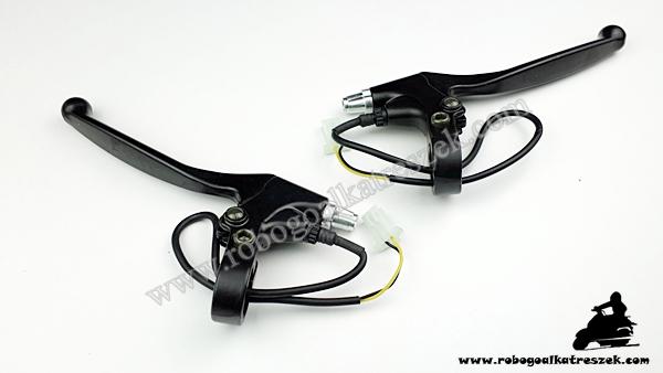 Fékkar szett fekete - elektromos kerékpárhoz