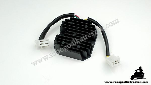 Feszültség szabályzó KYMCO 125-150-250ccm / Malaguti 125-150ccm 12V 15A DC 3+3 vezeték